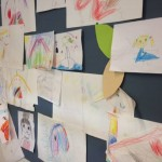 Lasten taideteoksia leikkipaikalta! :)
